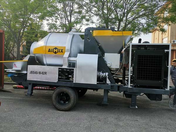 portable concrete mixer pump