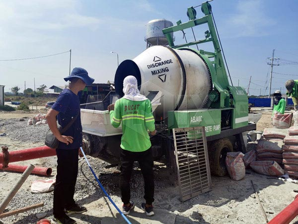 Mixer pump working in Philippines