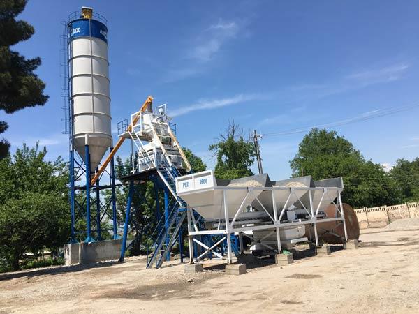 AJ50 Concrete Plant on Construction Sites