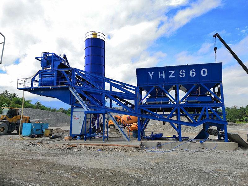 AJY60 Portable Concrete Batching Plant