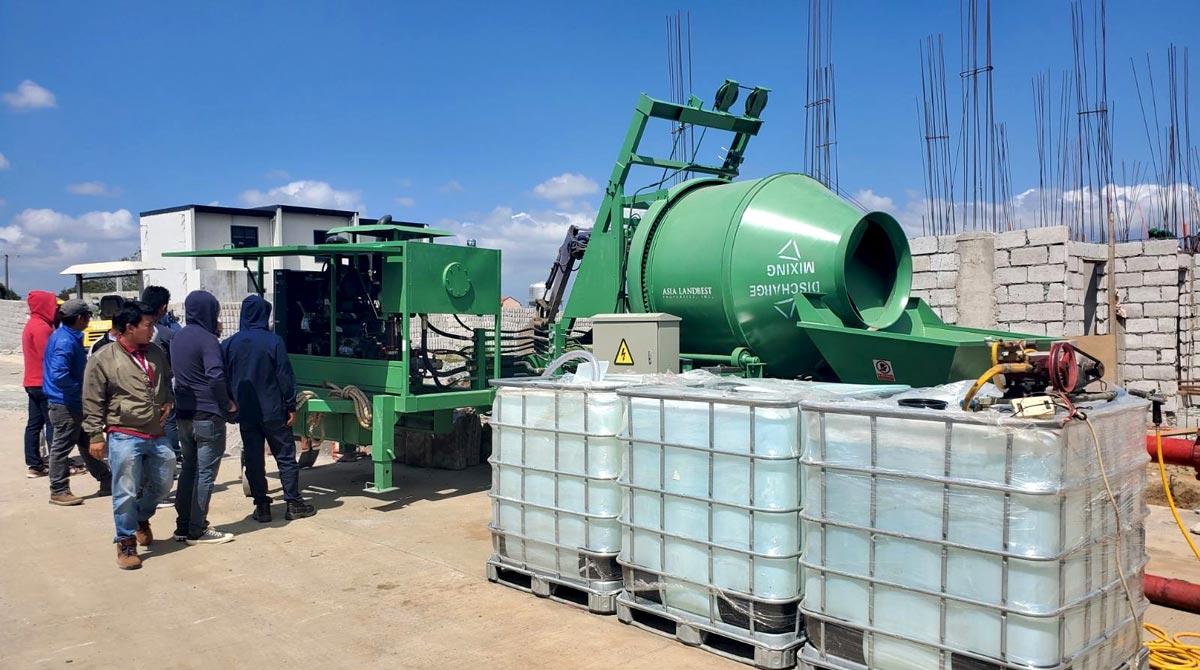 Mobile Concrete Mixer Pump in The Philippines