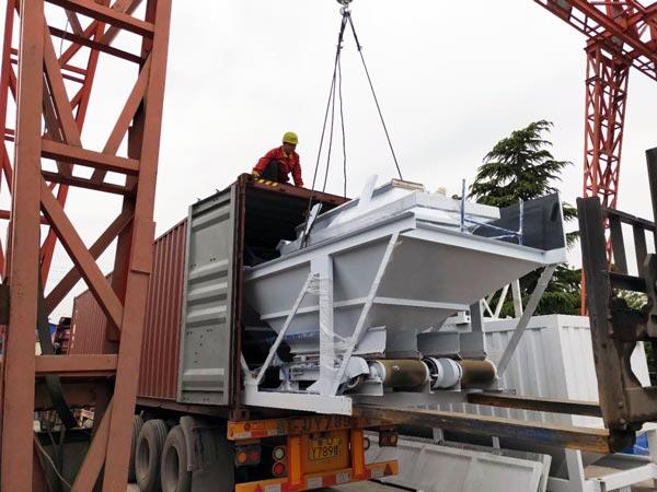 Transporting AJ50 Concrete Plant
