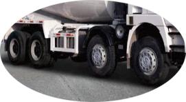 8×4 chassis ya Concrete Transit Mixer kwa ajili ya kuuza