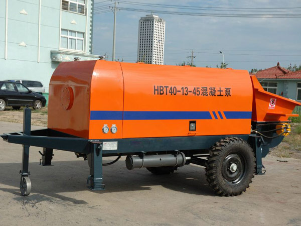 electric trailer concrete pump