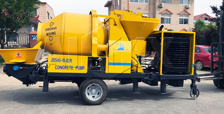 Aimix ABJZ40C Diesel Concrete Mixer Pump Has Been Exported To Philippines