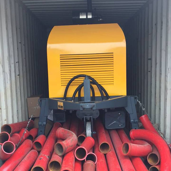diesel concrete mixer pump delivered to Indonesia