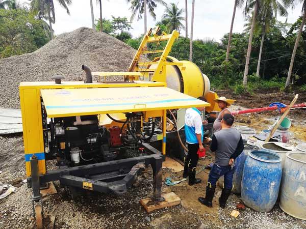 Checking Concrete Pump