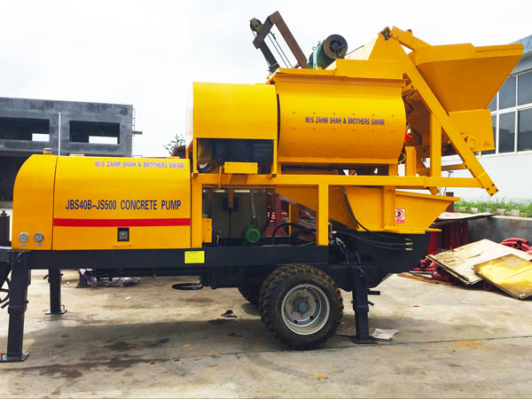 ABJS40D-JS500 concrete pump with mixer