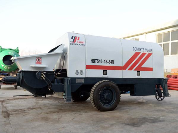 40 m3/h trailer concrete pump