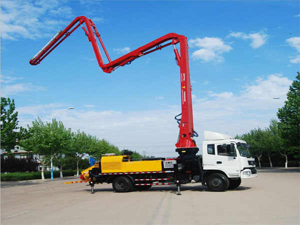 concrete pump with 42m boom