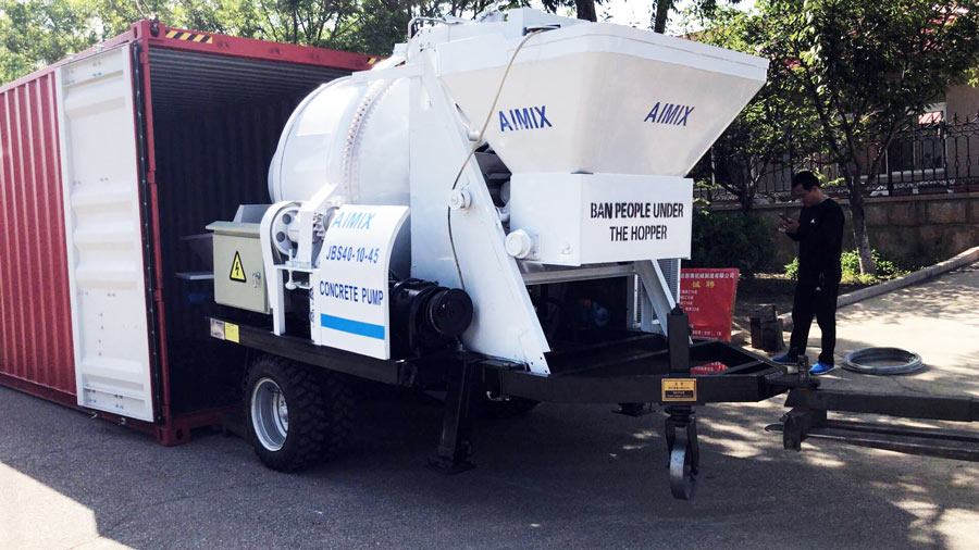 Electric Concrete Mixer With Pump Exported To Bangladesh