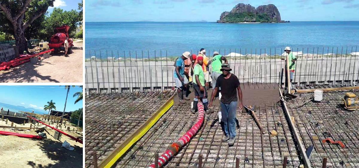 Aimix Concrete Mixer and Pump on Construction Sites