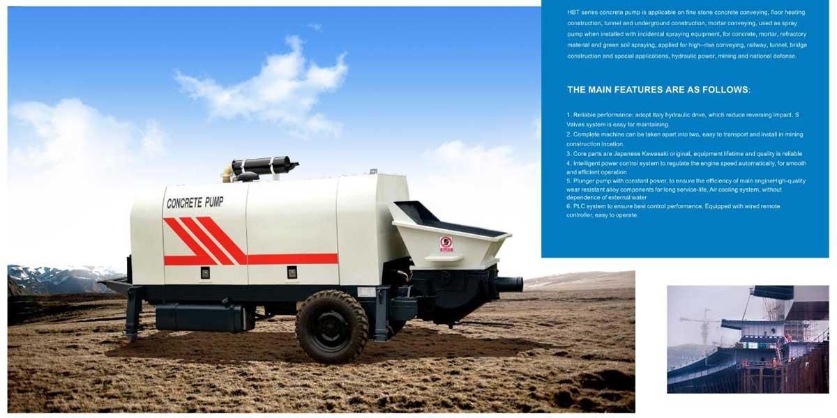 Trailer Concrete Pump Indonesia