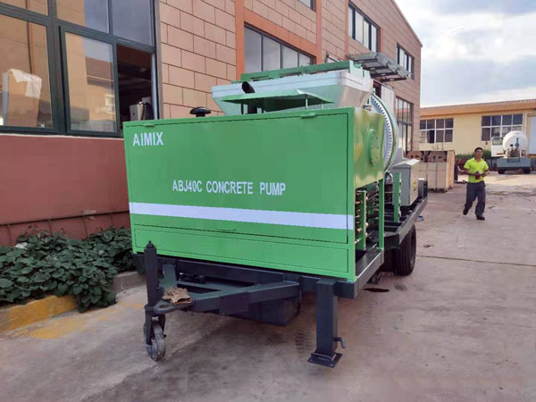 Concrete Mixer and Pump in Factory
