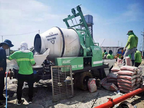 ABJZ40 diesel mixer pump on site