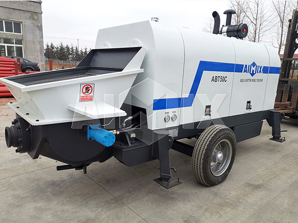 Diesel Trailer Concrete Pump