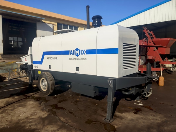 Ready to load concrete pump
