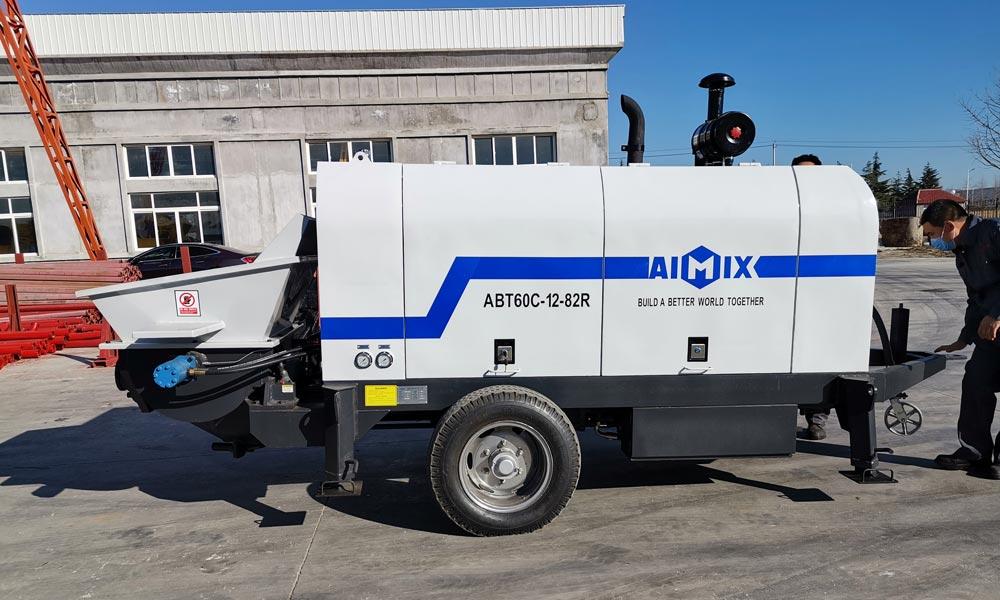 ABT60C Diesel Concrete Pump Ready to Uzbekistan