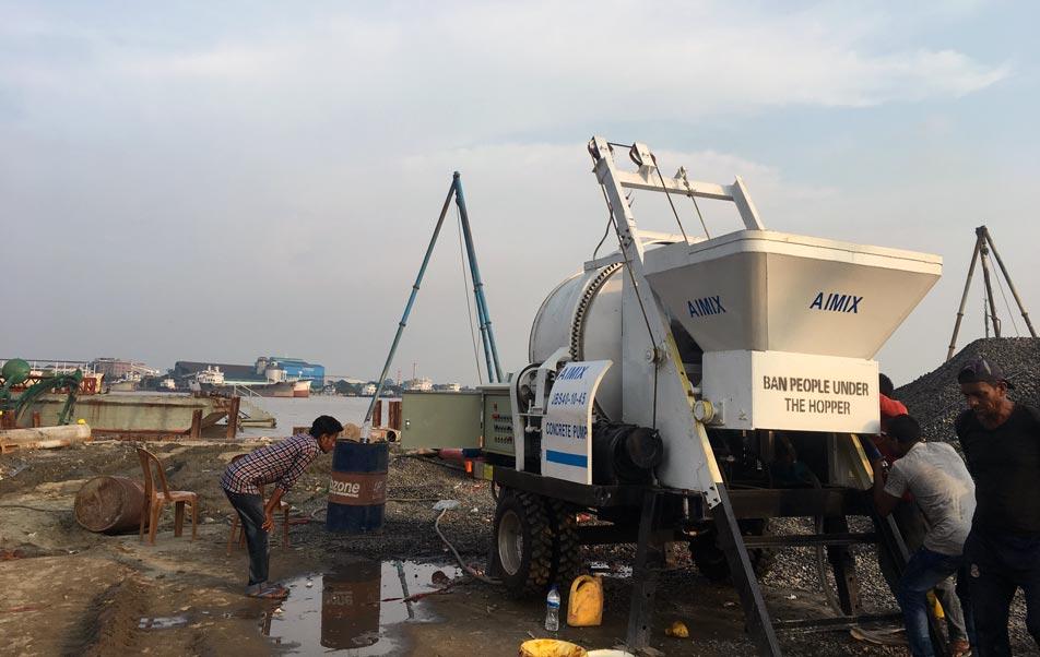 ABJZ40D Concrete Mix Pump in Bangladesh