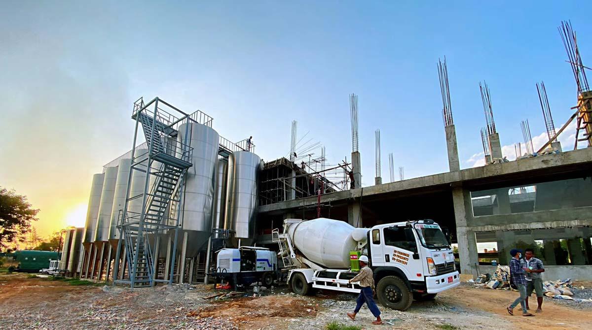 ABT40C Diesel Engine Concrete Working in Myanmar