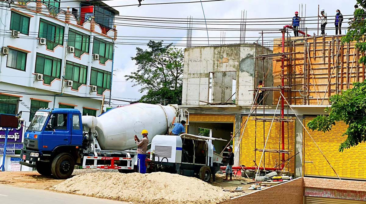 ABT40C diesel concrete pump in Myanmar