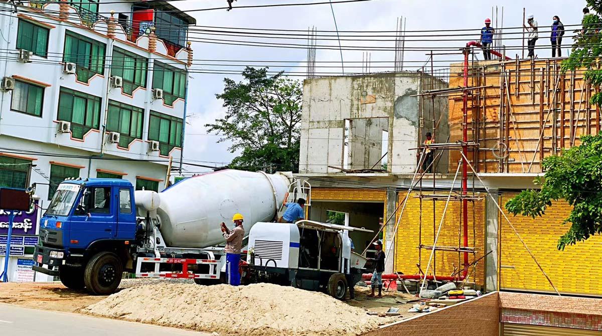 ABT40C diesel concrete pump in Myanmar