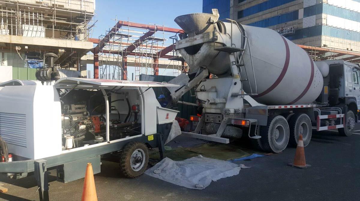 ABT60C Mobile Concrete pump in The Philippine