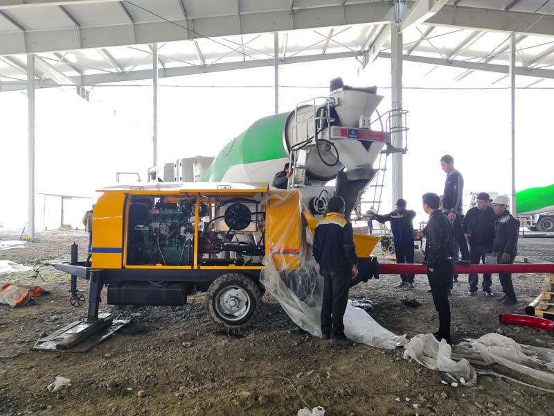 ABT40C Diesel Concrete Pump in Uzbekistan