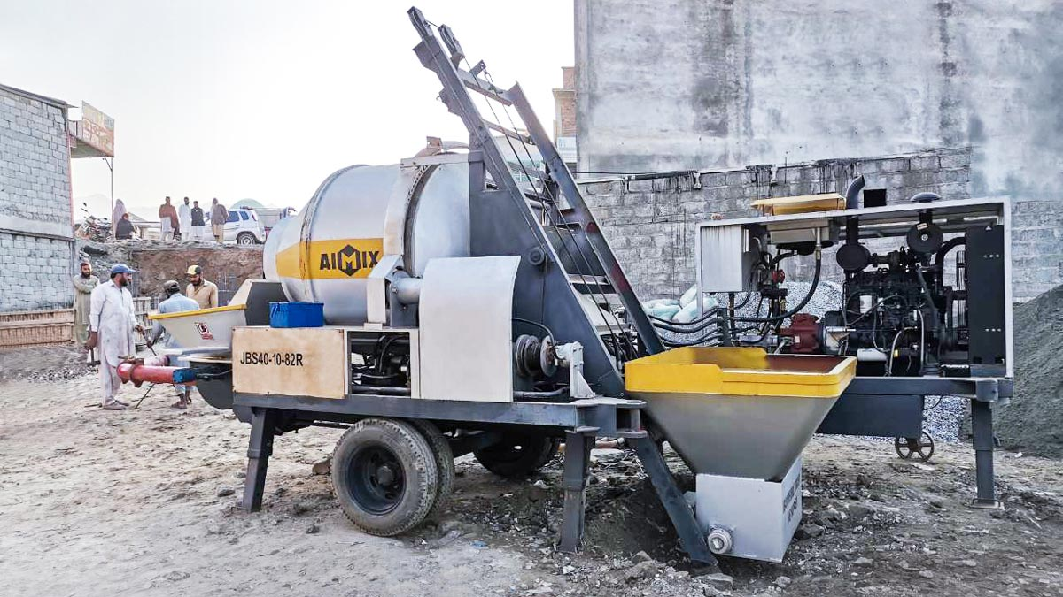 ABJZ40C pumping concrete in Pakistan
