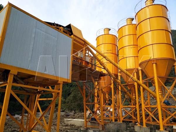 AJ-90 Concrete Mix Plant in Indonesia