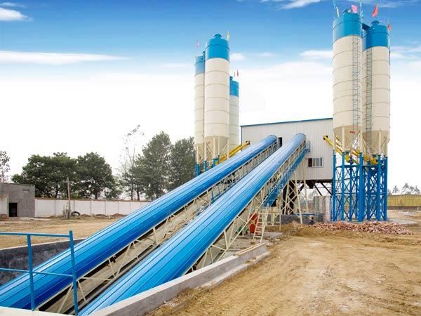 AJ120 stationary concrete plant