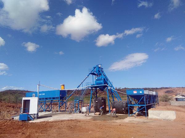 AJ50 Concrete Plant for Sale in Kenya
