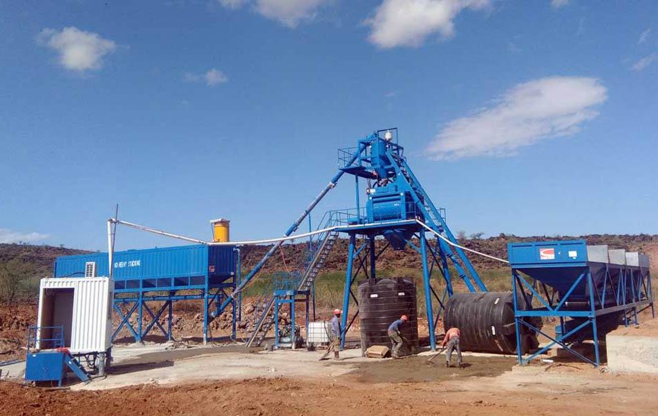 AJ50 Concrete Plant in Kenya