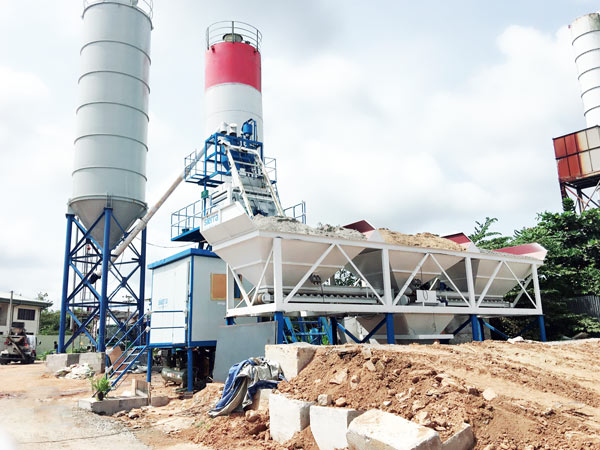 50 m3/h small concrete plant