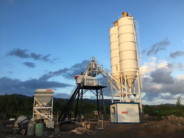 AJ50 Concrete Mixing Plant in Kenya