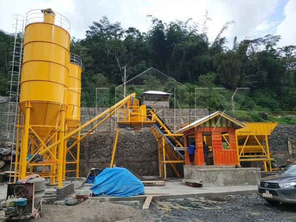 AJ60 Concrete Mixing Plant in Kenya