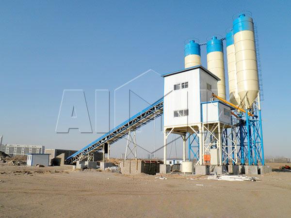 AJ90 Concrete Mixing Plant in Kenya