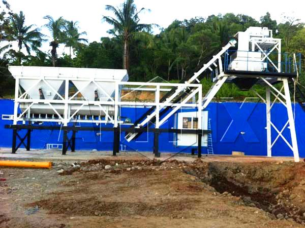 AJY25 Concrete Mixing Plant in Kenya
