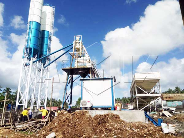 AJY-50 mobile Concrete Mixing Plant in Kenya