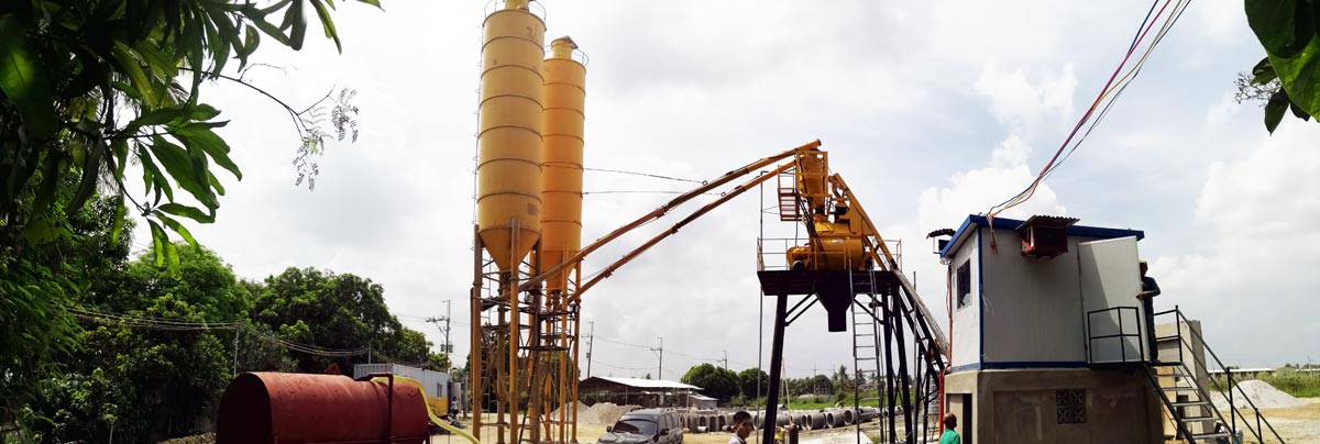 Aimix AJ-35 Concrete Plant in Philippines