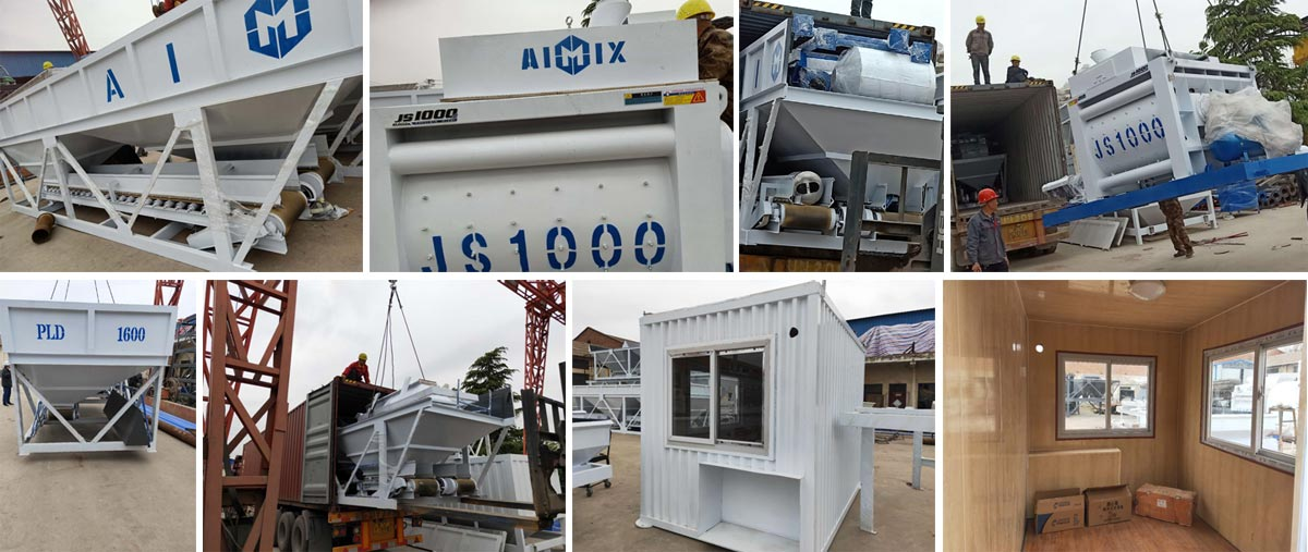 Delivering AIMIX AJ-50 Concrete Plant to Bangladesh