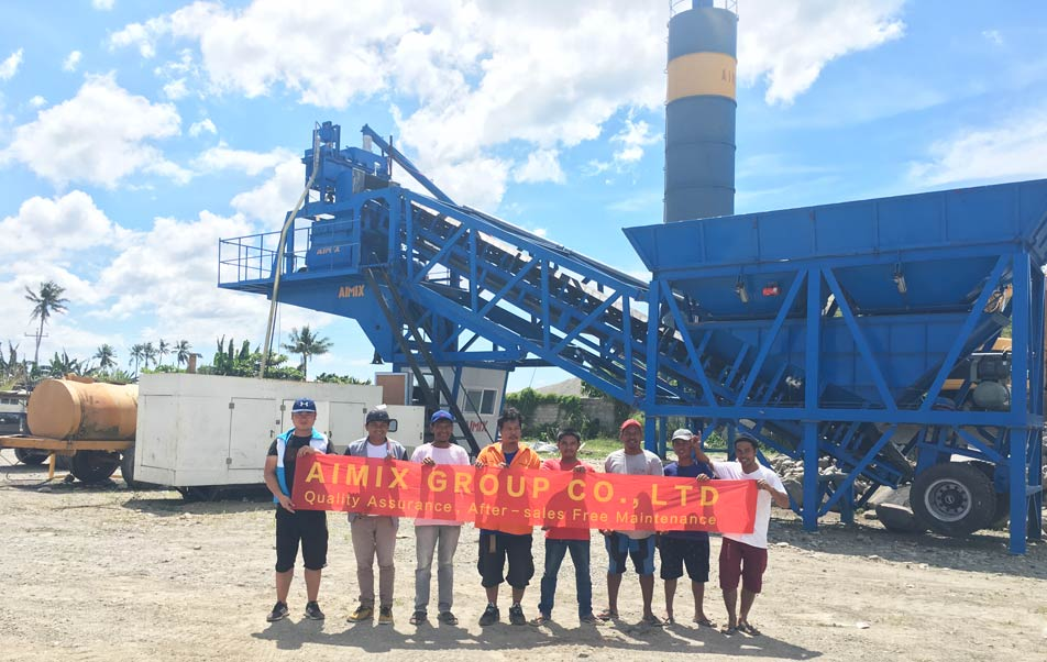Installing AJY35 Concrete Batching Plant in Ormoc, Philippines