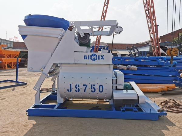 JS500 Concrete Mixer for 35 m3/h Batching Plant