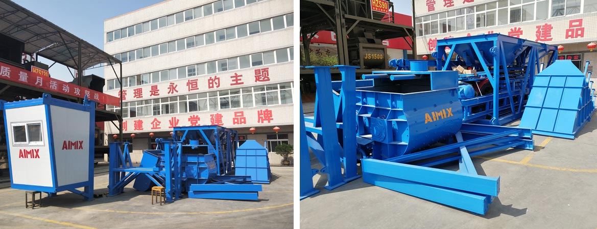 Mobile Concrete Mixing Plant Was Delivered to The Philippines