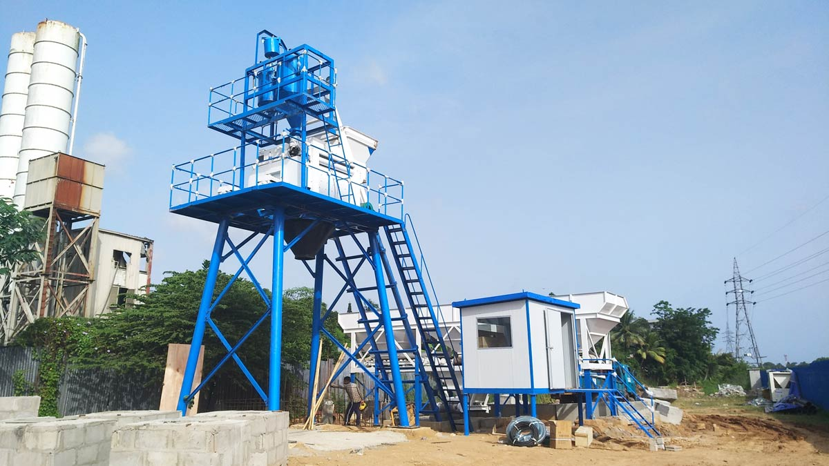 Small Concrete Batching Plant in Kenya