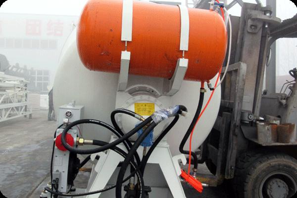 concrete mixer drum was loading