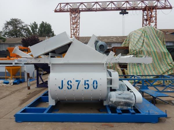 JS750 twin shaft mixer