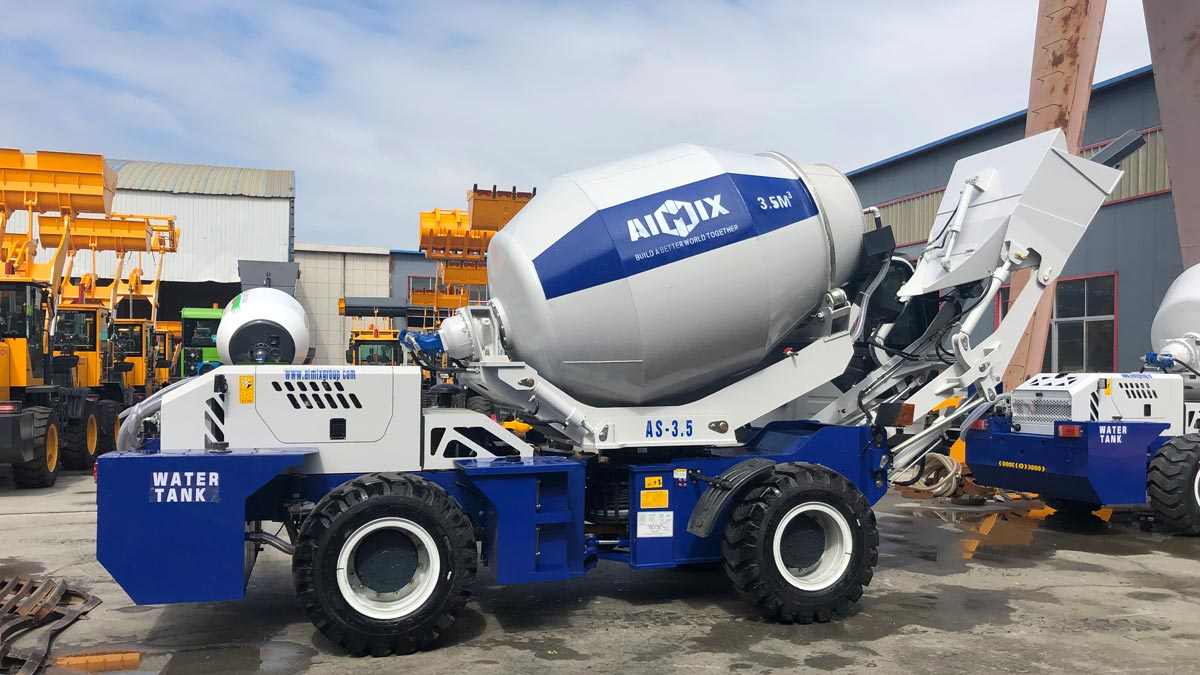 Delivering AS-3.5 Self Loading Concrete Mixer to Nigeria