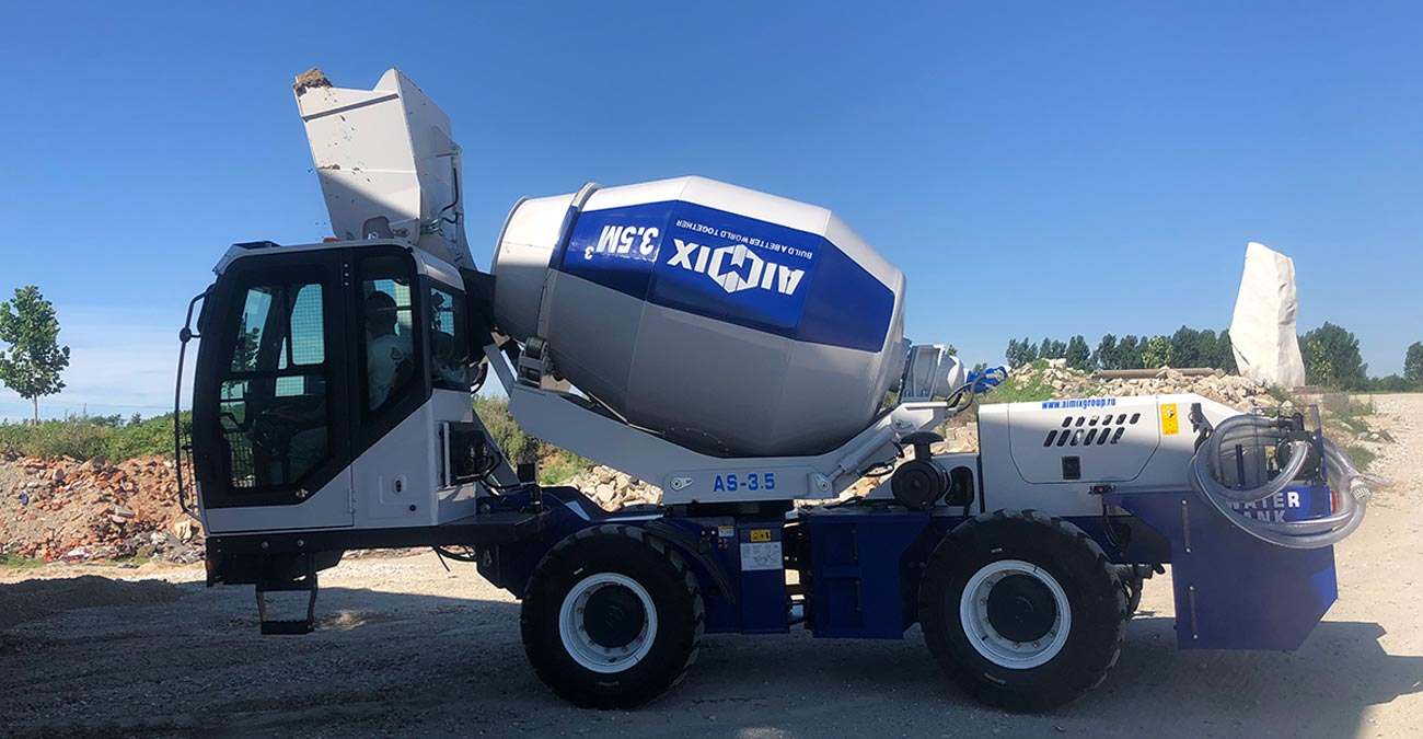 AS-3.5 Self Loading Concrete Mixer Was Ready to Export to Russia