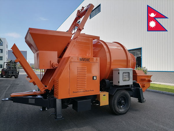 ABJZ30C Concrete Mixer Pump Was Exported to Nepal